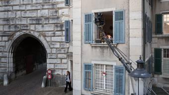 """Impressionen von den Dreharbeiten zum Kurzfilm """"Fortissimo"""" in Solothurn."""
