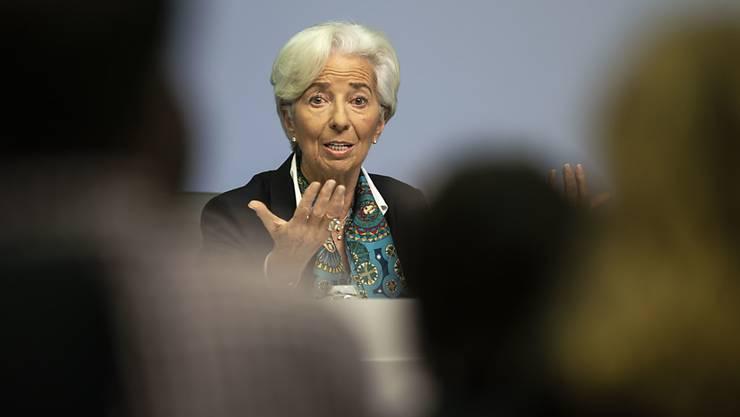 Die neue EZB-Chefin Christine Lagarde belässt die Leitzinsen im Euroraum auf rekordtiefem Niveau.(Archivbild)