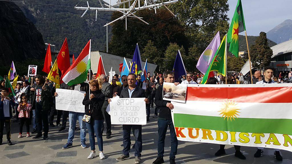 Kurden-Demos gegen türkische Angriffe