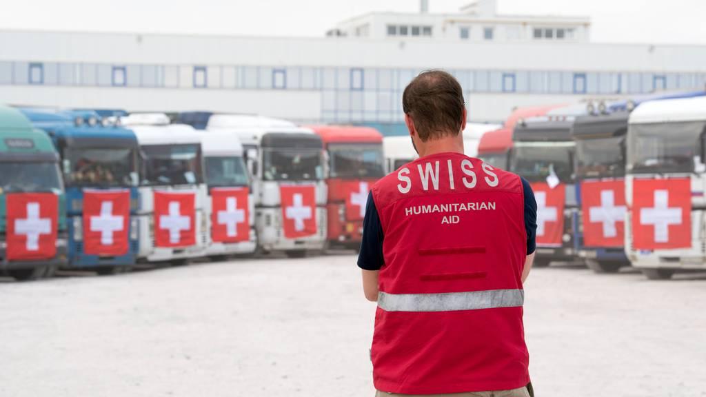Schweiz liefert Corona-Hilfsgüter in die Ostukraine