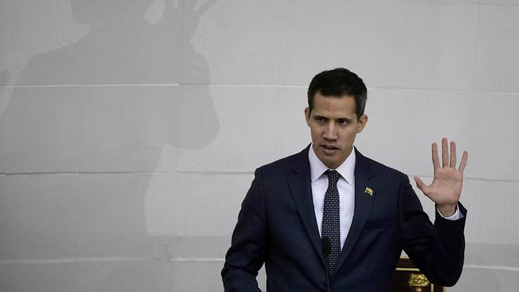 """""""Wir sind hier in einer Diktatur"""": Venezuelas selbsternannter Übergangspräsident Juan Guaidó. (Archivbild)"""