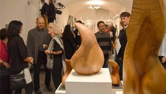 Vernissage der Ausstellung mit Werken von Irma Heltai-Piccolo und Thomas Hofstetter. Horatio Gollin