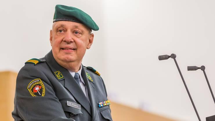Kreiskommandant Rolf Stäuble ist zufrieden mit den Aargauer Stellungspflichtigen.