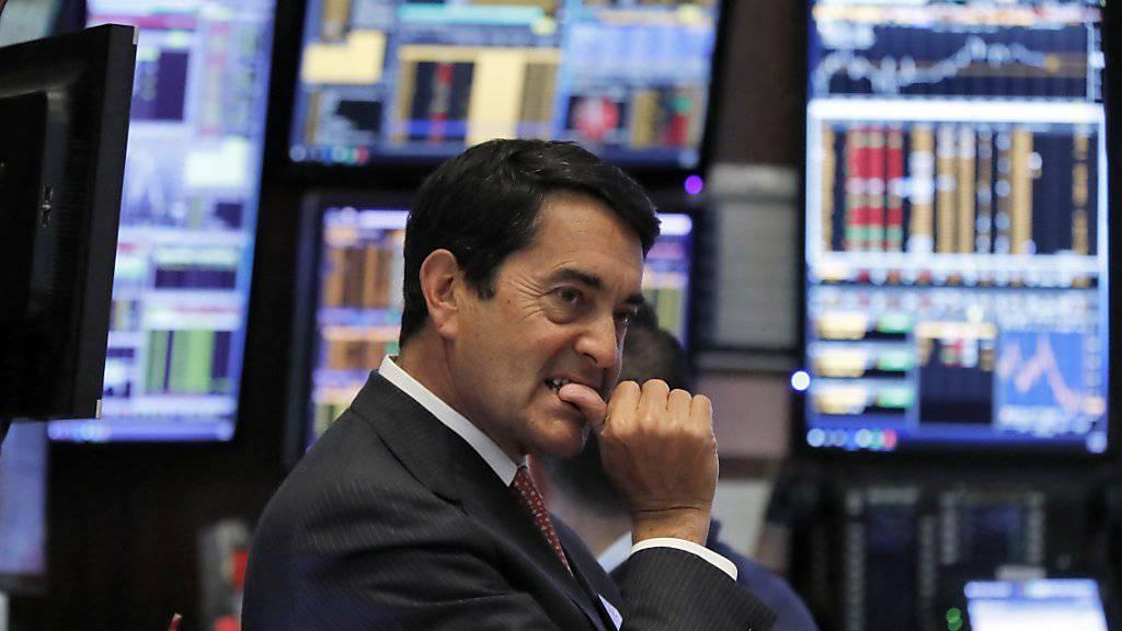 Ein Händler am Donnerstag an der New Yorker Börse.