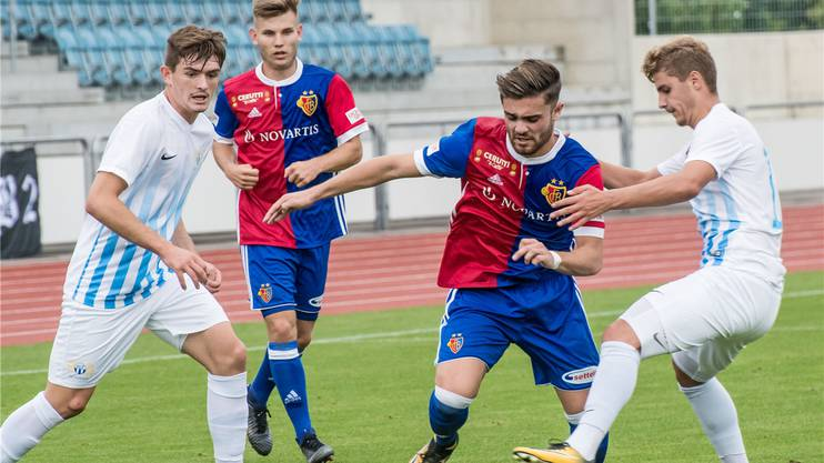 Martin Liechti (2.v.r.) im Einsatz für die Basler U21. Nicole Nars-Zimmer