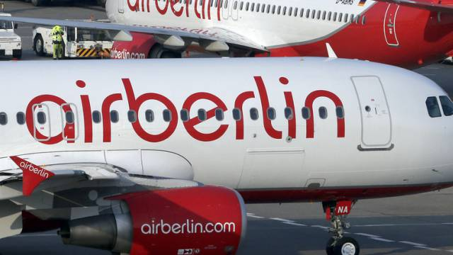 Air-Berlin-Flugzeuge auf dem Flughafen Berlin-Tegel