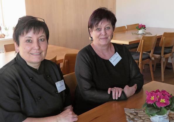 In Mandach spüren die Pächterinnen Andrea Wenk (l.) und Monika Weber die Solidarität der Bevölkerung.