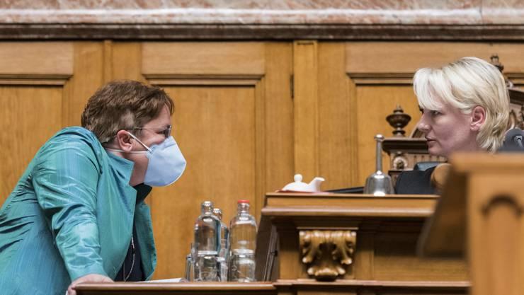 Magdalena Martullo-Blocher trug diese Woche im Nationalrat eine Maske.
