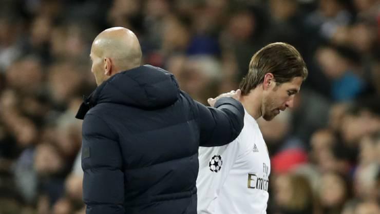 Trainer Zinédine Zidane und Captain Sergio Ramos stecken mit Real Madrid im Formtief