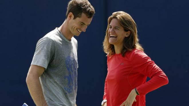 Andy Murray und Amélie Mauresmo verstehen sich bestens. Foto: Keystone