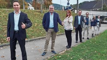 Das neue Zurzibieter Grossratsteam: (v.l.) Hansjörg Erne (SVP), René Huber (CVP), Claudia Hauser (FDP), Andreas Meier (CVP), David Burgherr (SP), Isabelle Schmid (Grüne) und Patrick Gosteli (SVP).