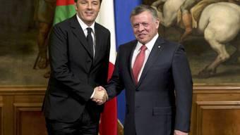 Italiens Ministerpräsident Matteo Renzi (links) und der jordanische König Abdullah II. in Rom.