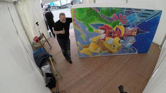 Was normalerweise 100 Stunden dauert, gestaltet der Laternenkünstler Christoph Knöll in weniger als 3 Tagen.