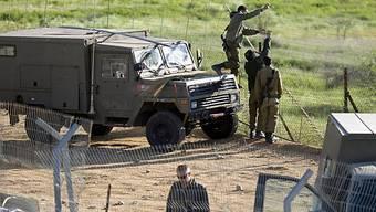 Israelische Soldaten an der Grenze zu Syrien