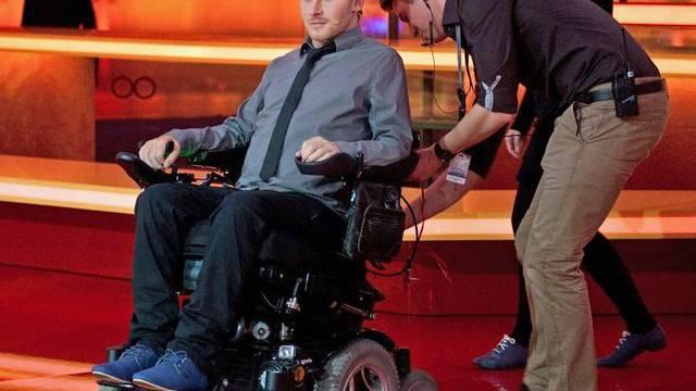 Der grosse Rollstuhl wird falsch interpretiert: Samuel Koch (Archiv)