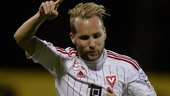Freude über sein Tor zum 1:0: Markus Neumayr