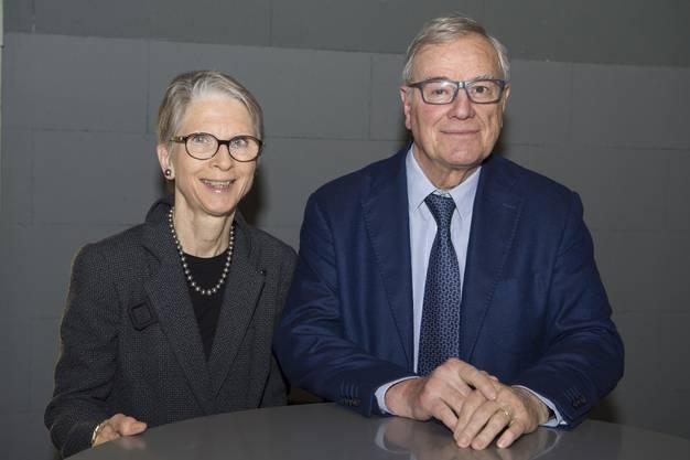 Barbara und Leonardo Vannotti, ehemaliger VR-Präsident von Sulzer.