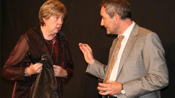 Brigitte Vogel und Mario Geng spielen in der neuen Aufführung vom Theater Wiwa.