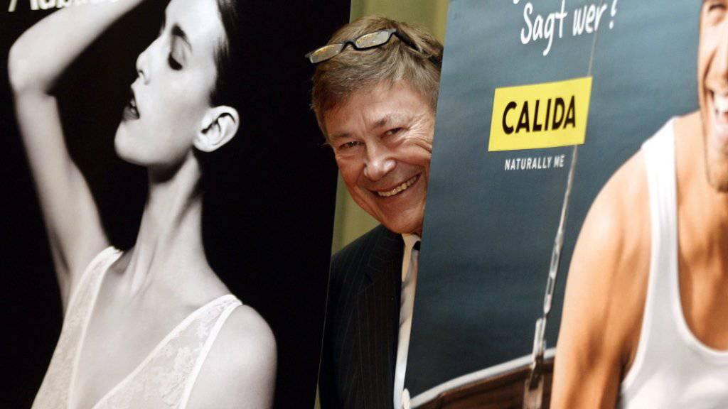 Calida-Chef Sulzberger an einer Medienkonferenz im Jahr 2014. Im vergangenen Jahr hat der starke Franken dem Unternehmen einen Strich durch die Rechnung gemacht.