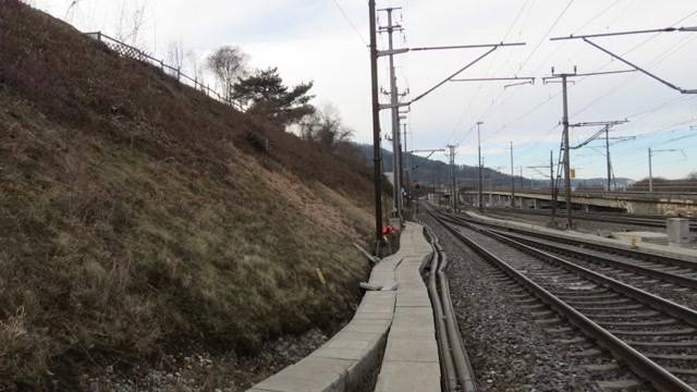Wegen Stein: Zug und Gleise beschädigt