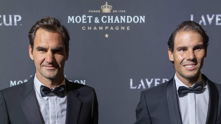 Roger Federer und Rafael Nadal an der Laver Cup Gala Night.
