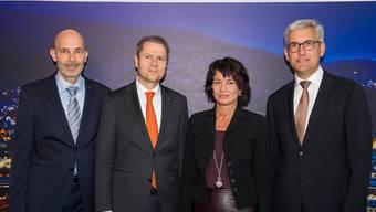 Bundesrätin Doris Leuthard an der Eröffnung des neuen Forschungslabors für Leistungselektronik in Baden-Dättwil.