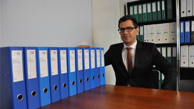 Chefplaner Daniel Issler einigte sich mit 70 Prozent der Einsprecher. Die 161 erzielten Vergleiche füllen elf Bundesordner. DEG