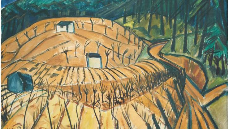 Die «Märkische Landschaft» (1912 - 1913) von Erich Heckel ist eines von sieben Bildern im Aargauer Kunsthaus, bei denen eine Raubkunst-Verbindung nicht auszuschliessen ist. Die Herkunft ist nicht eindeutig geklärt.