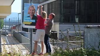 Wahlplakate in Aarau und Lenzburg