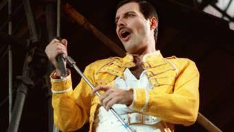 Freddie Mercury während eines Konzerts in Köln 1986. Wenige Jahre später starb der Ausnahmemusiker an seiner Aids-Erkrankung. (Archivbild)