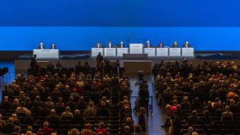 Mit 1200 Teilnehmern die letzte Grossveranstaltung in Basel vor dem Verbot: die Generalversammlung des Basler Novartis-Konzerns.