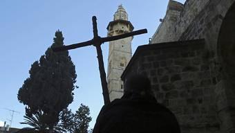 Die Grabeskirche in Jerusalem (Aufnahme von heute Dienstag, 27. Februar 2018).