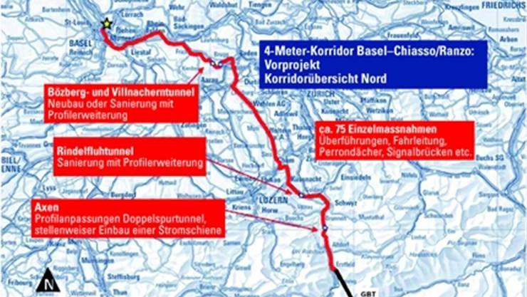 Neue Schienenausbauprojekte