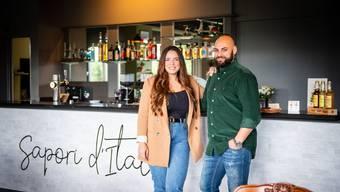 Karolina Setenta und Giuseppe Sturzo im neuen Restaurant im Hochhaus an der Dammstrasse.