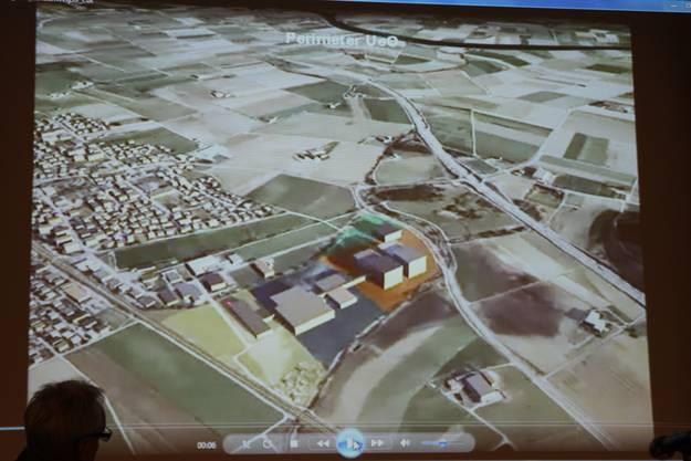 Simulation einer Luftaufnahme