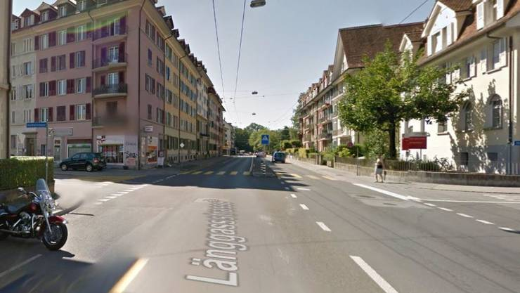 An dieser Stelle der Berner Länggassstrasse ereignete sich der Unfall.