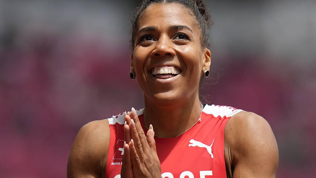 Mujinga Kambundji egalisierte trotz leichtem Gegenwind und obwohl sie ihren Lauf nicht ganz durchzog den eigenen Schweizer Rekord über 200 m