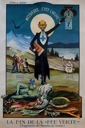 ...Niederlage des Blauen Kreuzes: Interpretation durch Karikaturisten im Abstand von 95 Jahren.