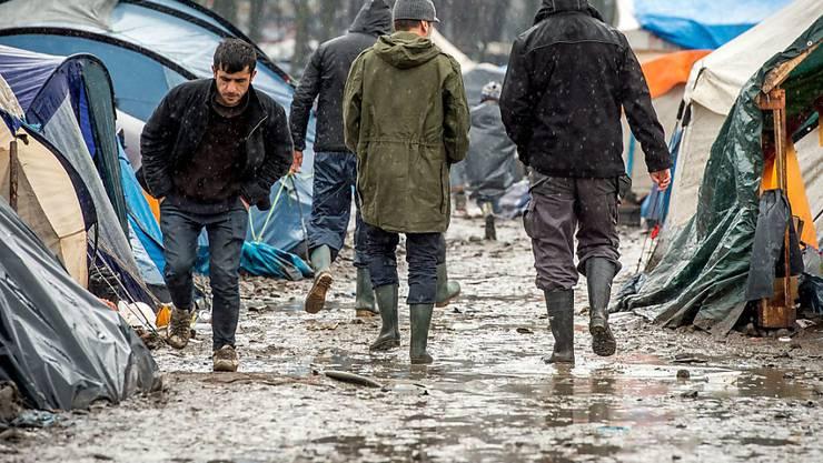 """Von den französischen Behörden """"Dschungel"""" genannt: Das wilde Flüchtlingslager bei Dünkirchen ist geräumt worden. (Archivbild)"""
