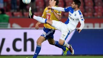Hart umkämpft: der Luzerner Michael Frey (links) im Duell mit GC-Verteidiger Jan Bamert