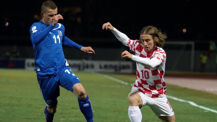 Die Isländer konnten sich gegen die Kroaten durchsetzen. (Archiv)
