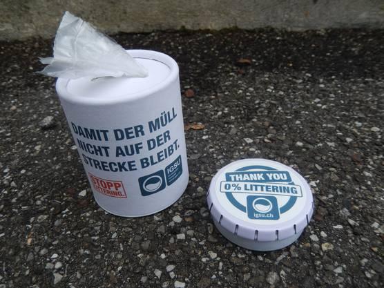 Praktischer Abfallsackspender und Taschenaschenbecher sollen an den gesunden Menschenverstand appellieren
