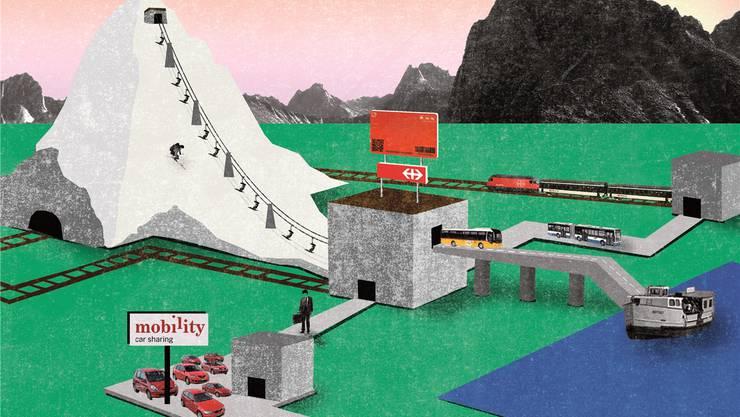 Neben Bahn- und Busfahrten kann der Swisspass als Skiabo, als Mobility-Karte und zur Velo-Ausleihe verwendet werden. Patric Sandri