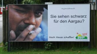 Die SVP Bremgarten provoziert wieder einmal mit einem Plakat