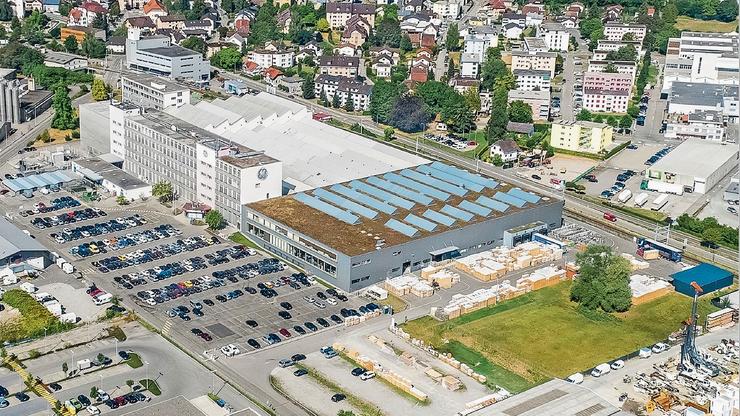 Auf dem Gelände in Oberentfelden wird das Transportunternehmen die Standorte Aarau, Lenzburg und Hunzenschwil zusammenlegen.