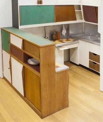 Kompaktküche für Le Corbusiers Unité d'Habitation in Marseille, 1952.