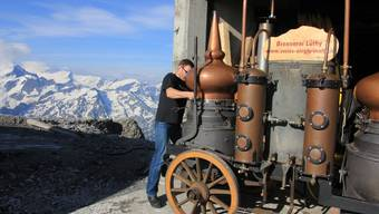 Müheler Whisky-Brenner Urs Lüthy auf dem Titlis