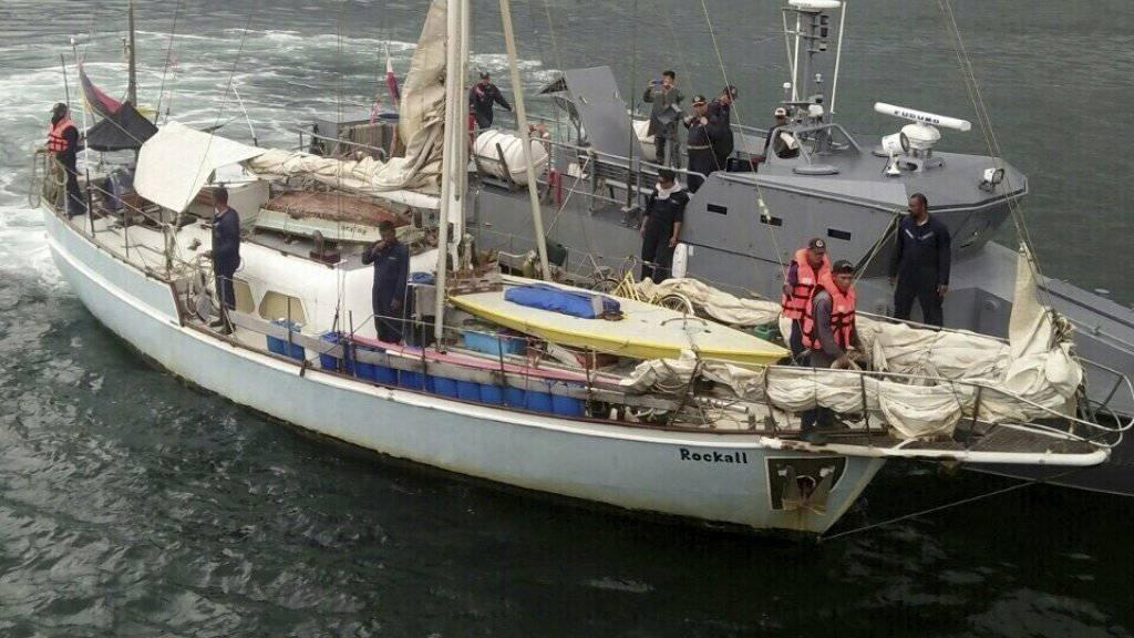 """Die Jacht """"Rockall"""". An Bord des Schiffes fanden die philippinischen Sicherheitskräfte die Leiche einer Frau. Der Besitzer des Schiffs wurde von Abu Sayyaf entführt."""