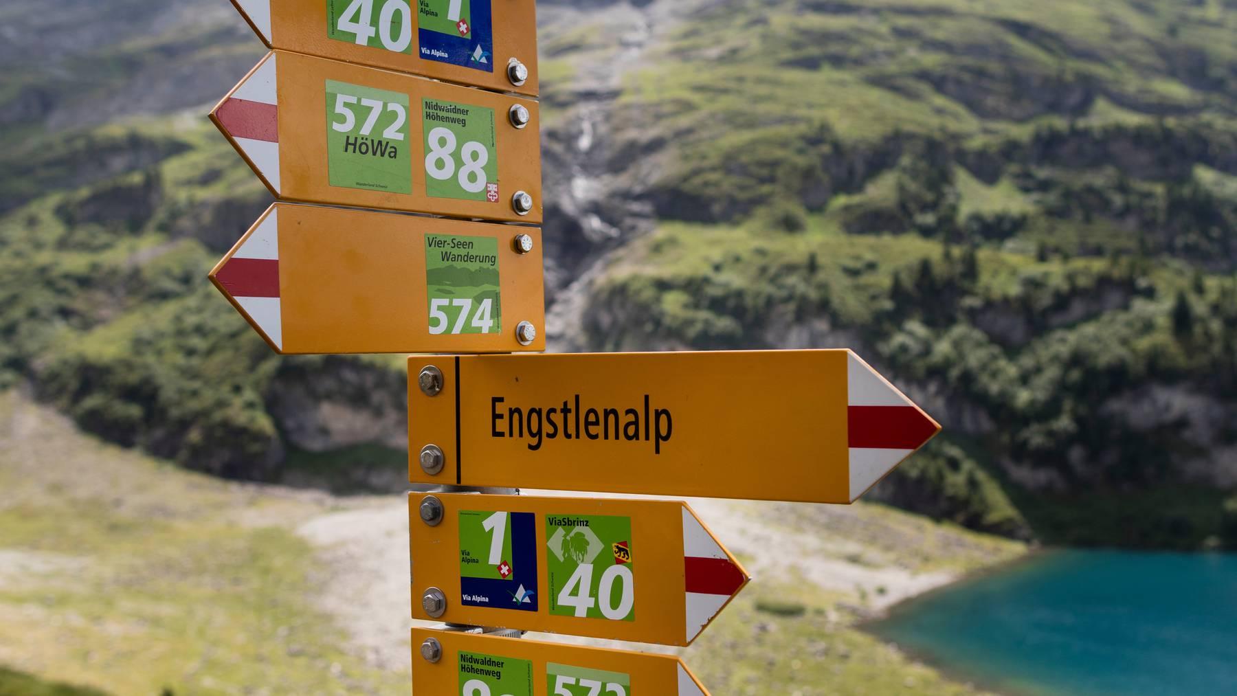 Pièce de Résistance: Naturschutzgebiet am Engstlensee.