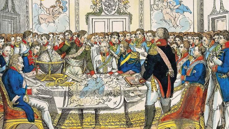 1815 wurde am Wiener Kongress die «immerwährende Neutralität der Schweiz» beschlossen.